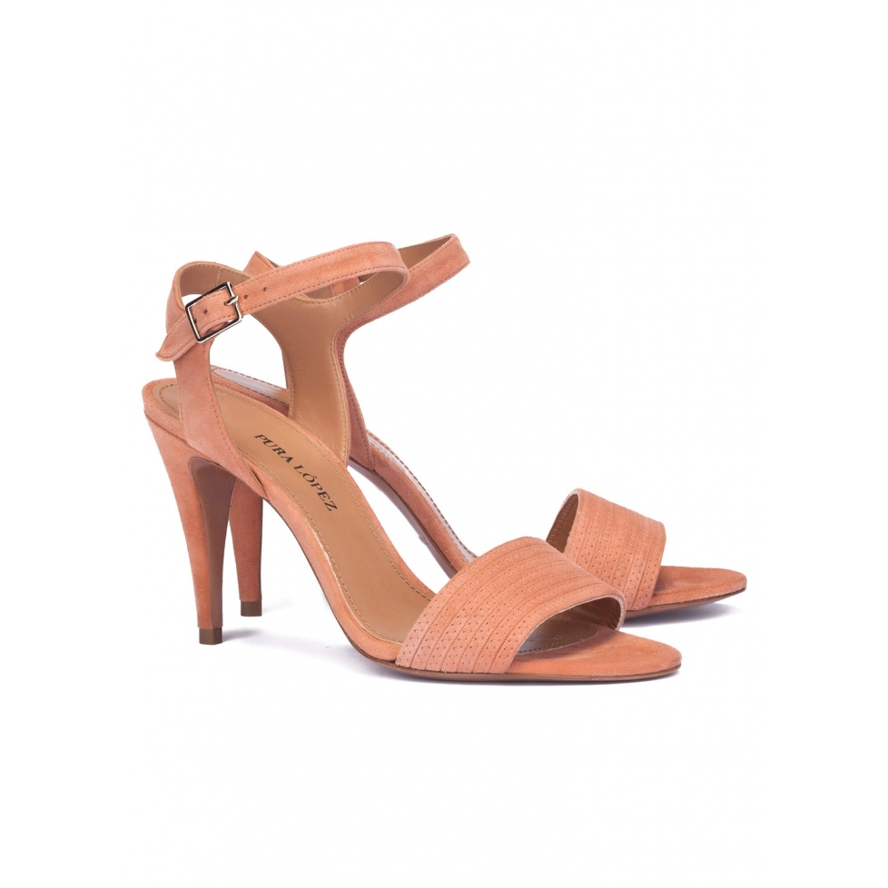 High heel sandals in old rose - online shoe store Pura Lopez