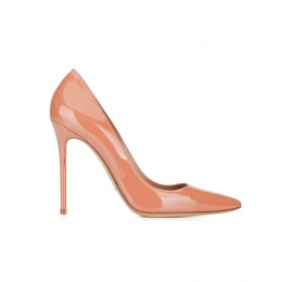 Heeled pumps in old rose patent leather Pura López