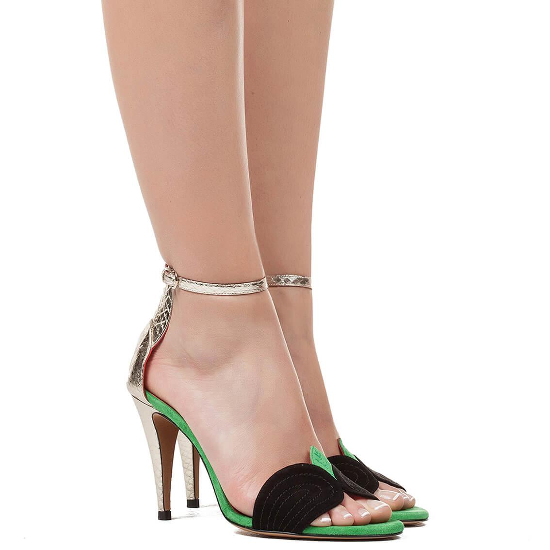 6bd318bf8 Ankle strap high heel sandals - online shoe store Pura Lopez . PURA ...
