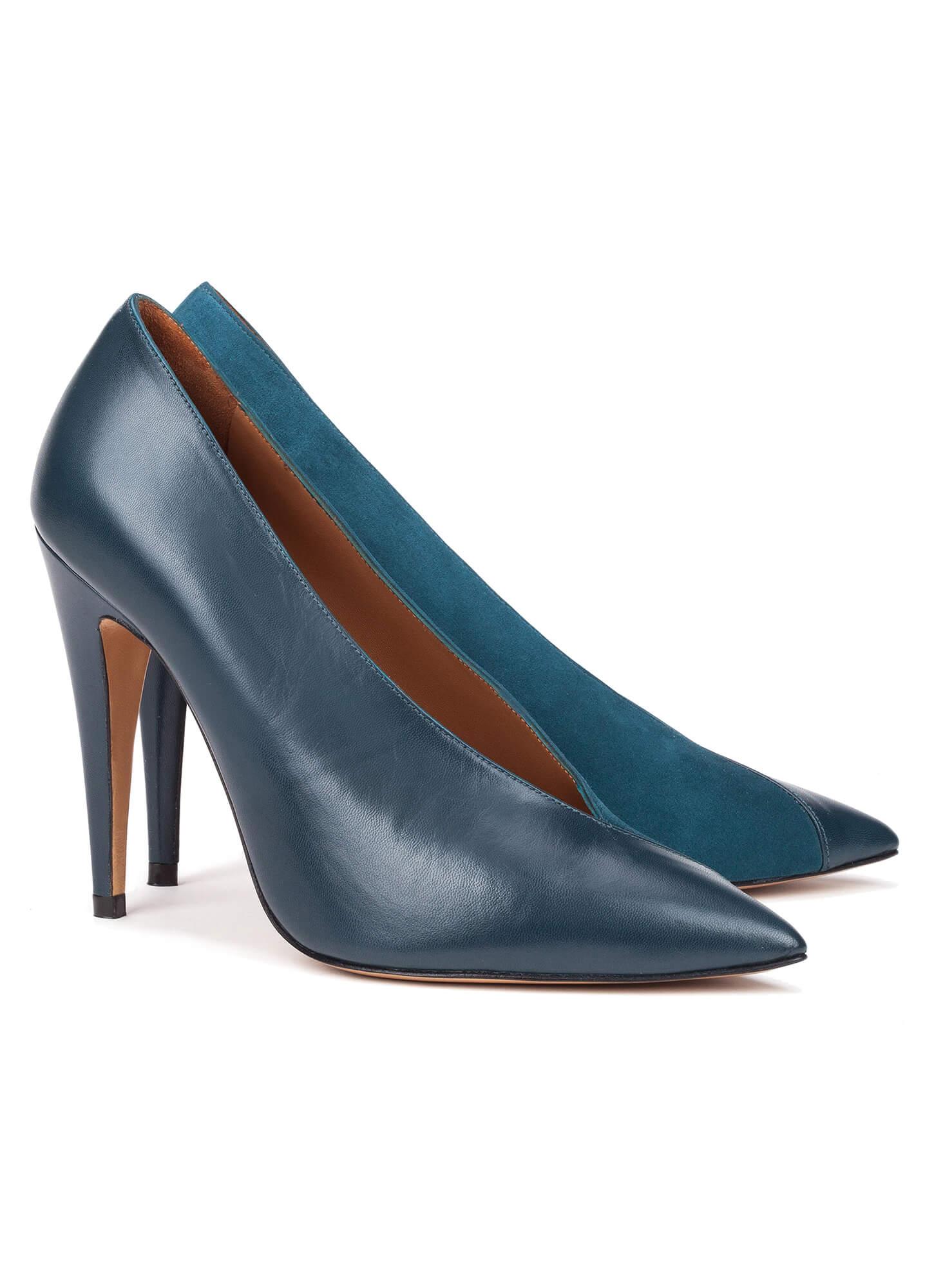 tienda Pura zapatos de salón de López azul petróleo Zapatos YxI0qppw
