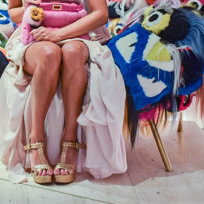 T-bar sandals in natural raffia - online shoe store Pura Lopez