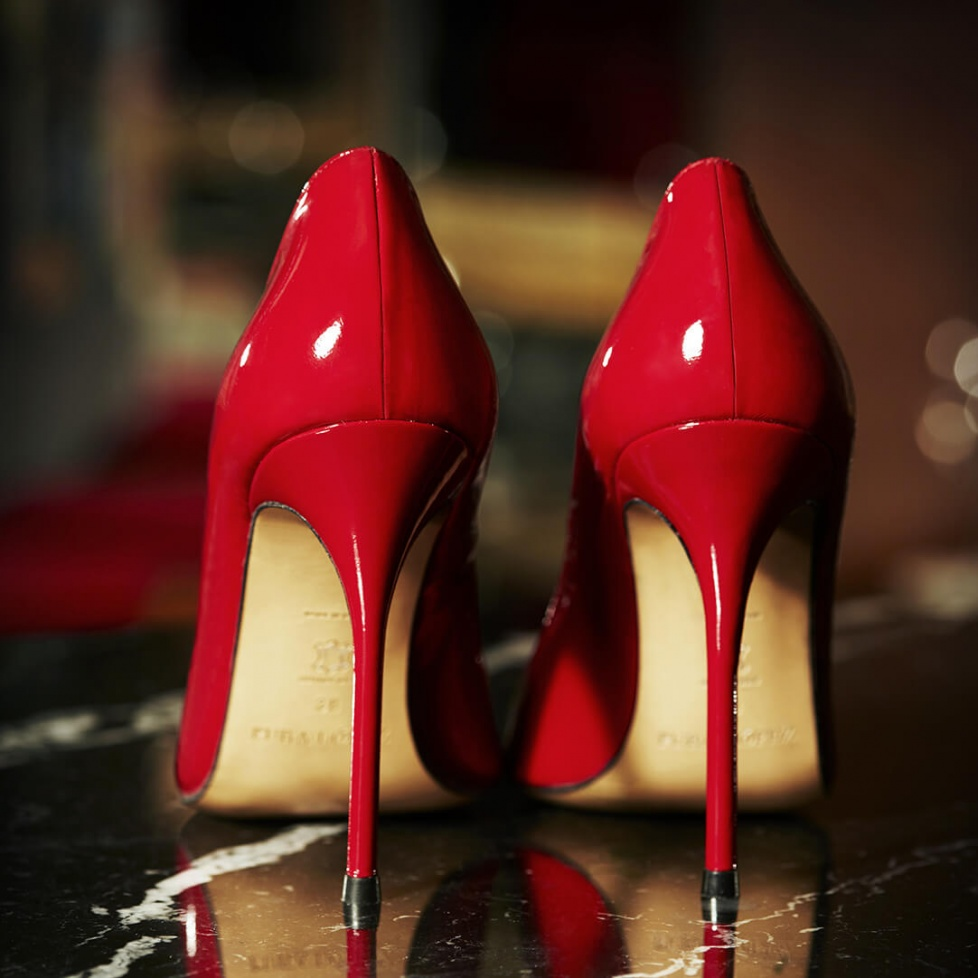 High heel pumps in red patent - online shoe store Pura Lopez