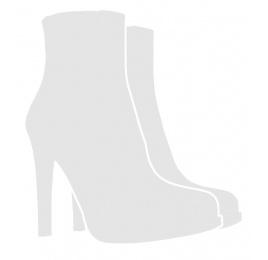 Zapatos de salón con tacón alto en ante rojo con lazo Pura López
