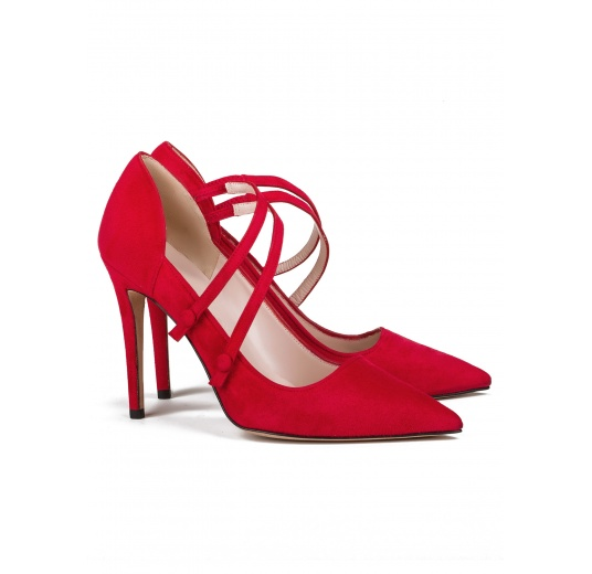 High heel shoes in red suede Pura L�pez