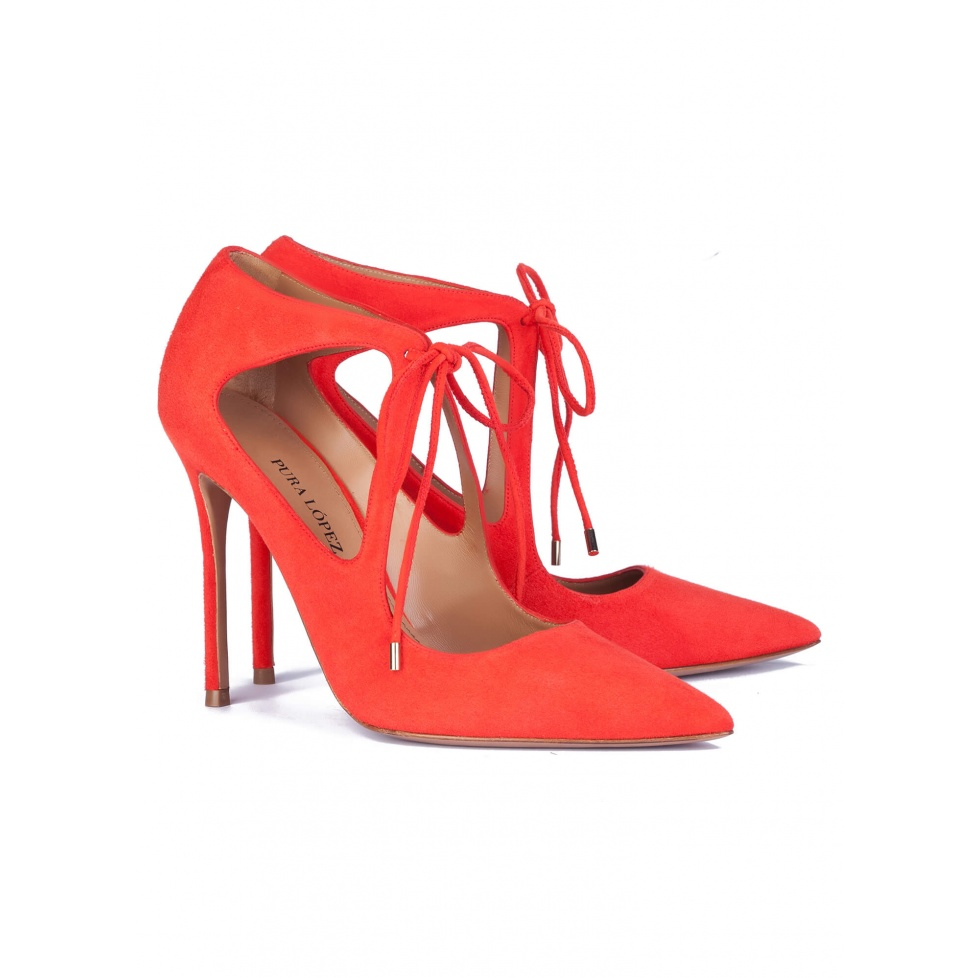 Red high heel shoes - online shoe store Pura Lopez