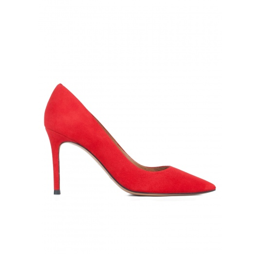 Red suede classic heels Pura L�pez