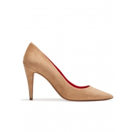 High heel pumps in hazelnut suede Pura López