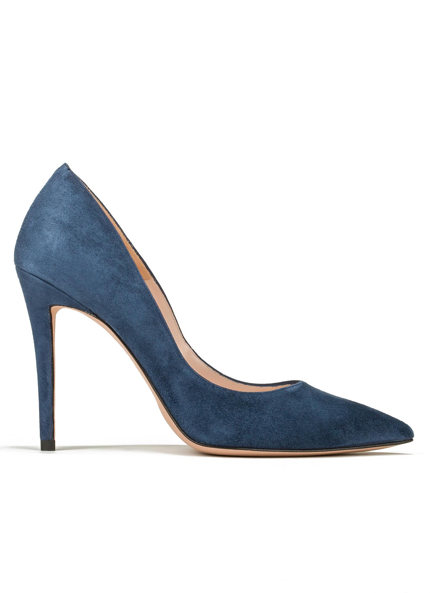 Ella historical Pura López. High heel pumps in ocean blue suede ...