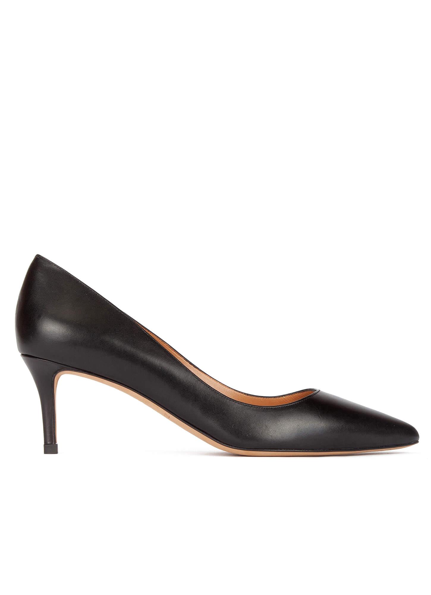De Negro Zapato Salon Medio Tacon OkuiPXZ