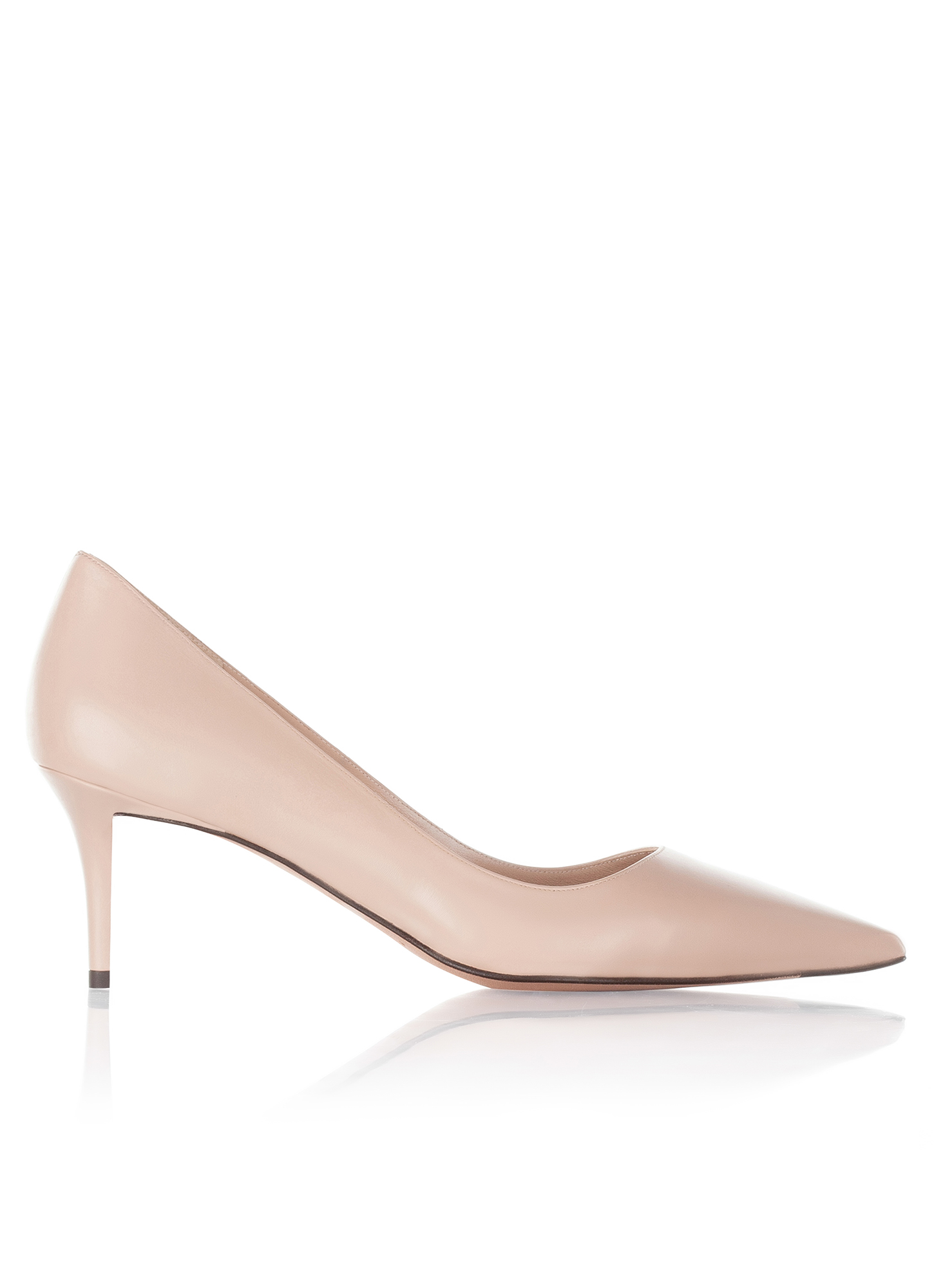 Mid heel pumps Pura Lopez in nude leather · PURA LOPEZ