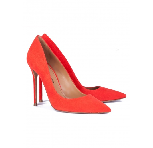 Heeled pumps in red suede Pura L�pez