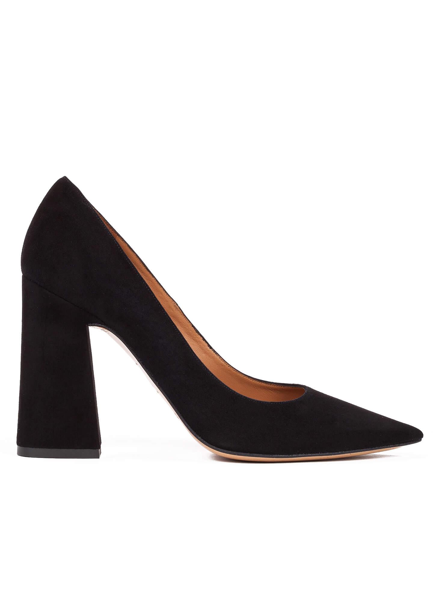 Zapatos de tacón alto en ante negro - tienda de zapatos Pura López ... 4abb32011072