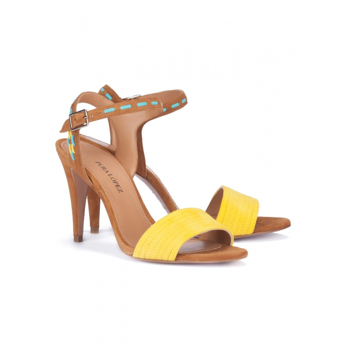 two-tone Heeled sandals - online shoe store Pura Lopez