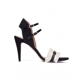 Black-white heeled sandals Pura López