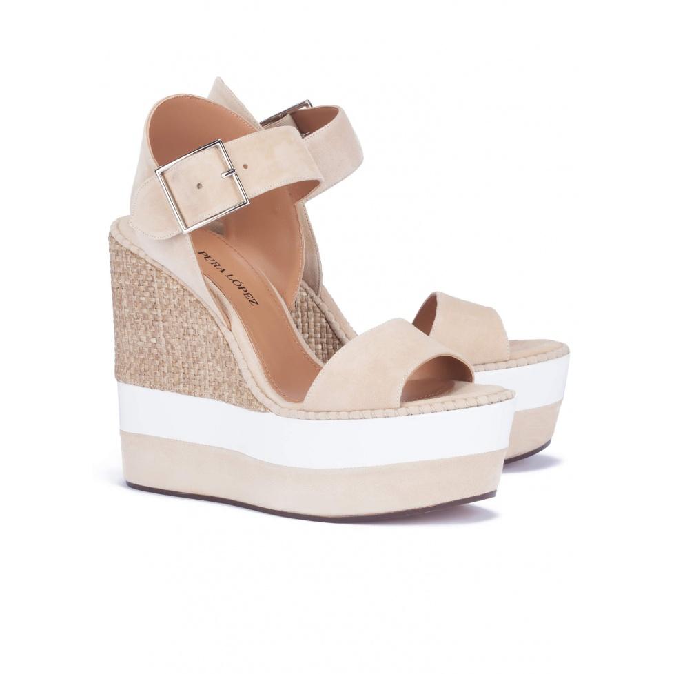 Sandalias de plataforma beis - tienda de zapatos Pura López