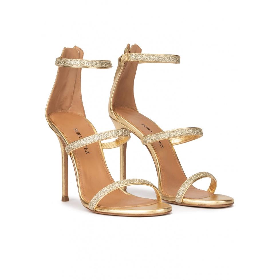 Sandalias rojas de tacón alto - tienda de zapatos Pura Lópe