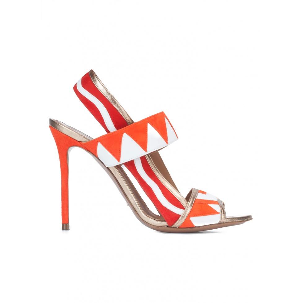 Multicolored high heel sandals