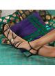 Sandalias negras de piel con tacón de 75mm