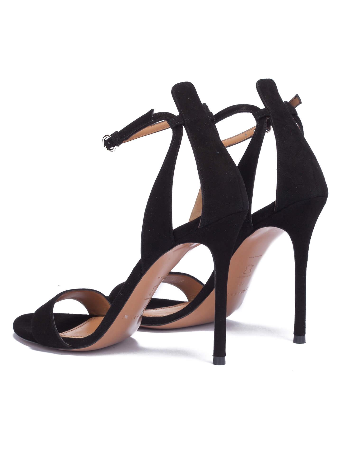 4c4e7f85d175 High heel sandals in black suede - online shoe store Pura Lopez ...