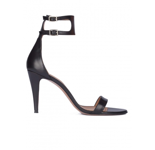 Black ankle strap high heel sandals Pura L�pez