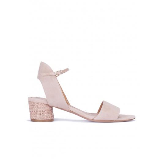 Nude mid block-heel sandals Pura L�pez