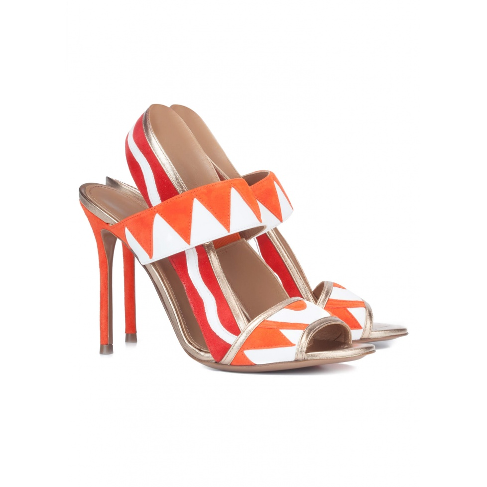 Multicolored high heel sandals - online shoe store Pura Lopez