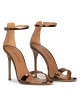Sandalias de fiesta metalizadas bronce con tacón alto