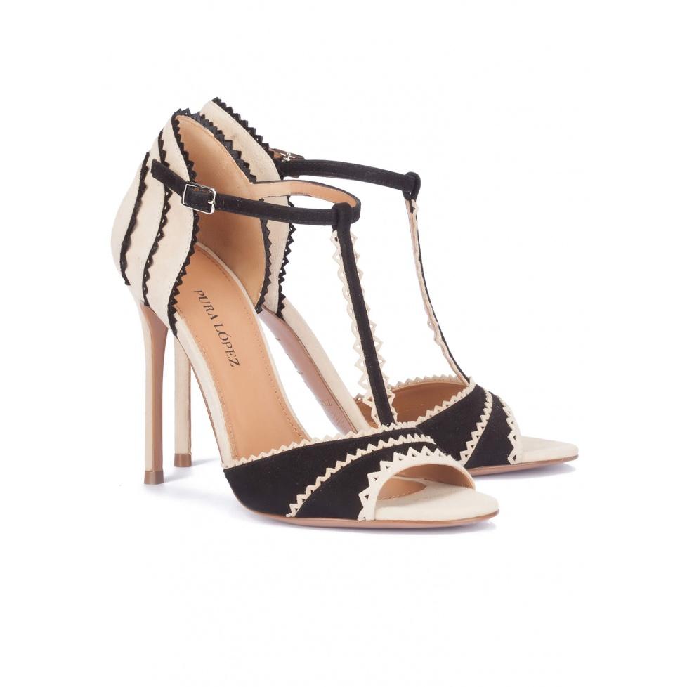 Sandalias negras de tacón alto - tienda de zapatos Pura López