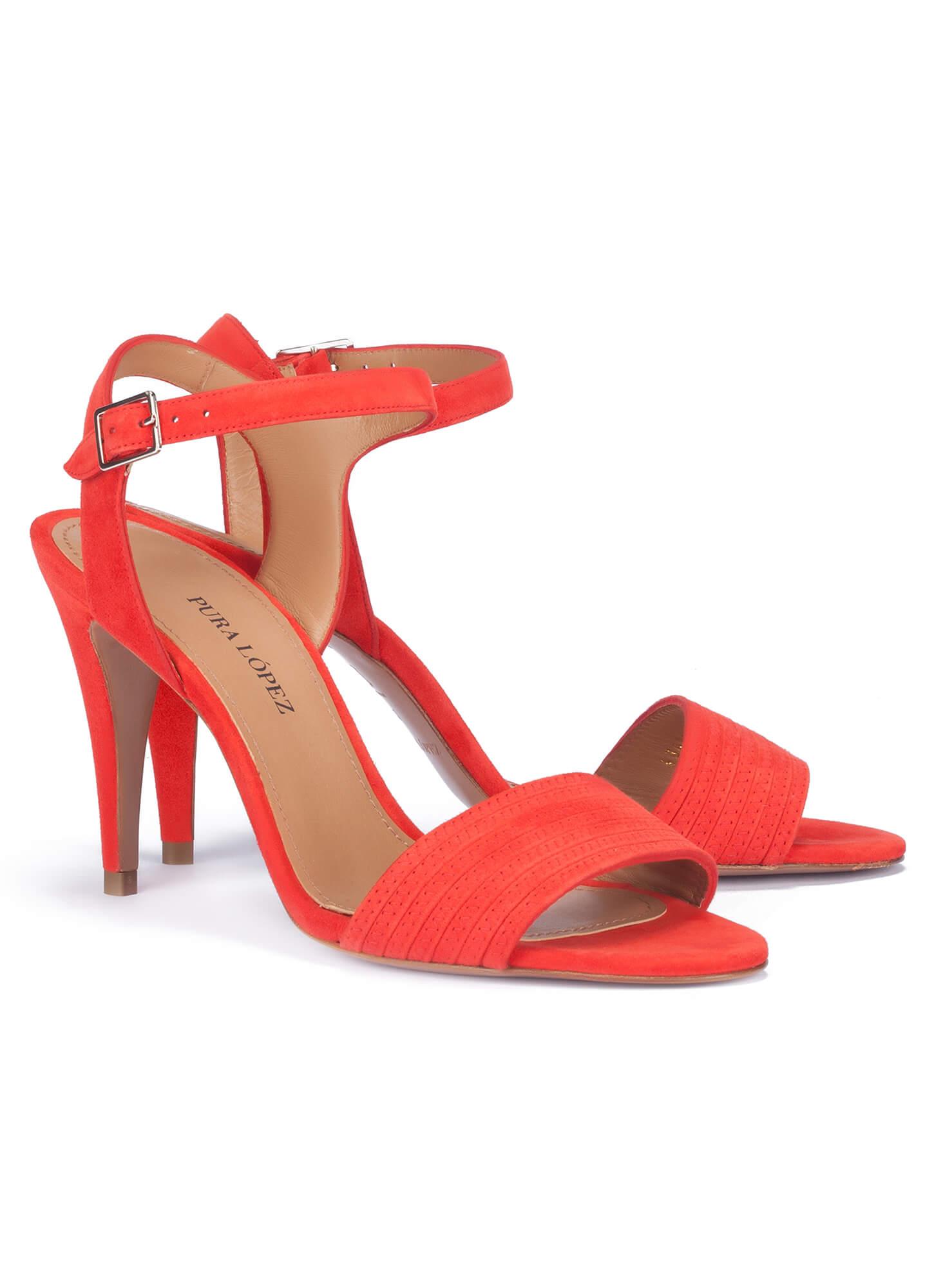 54bc1a89fd3 Zapatos Pura Tienda De Tacón Alto Sandalias Rojas López YqPxww1