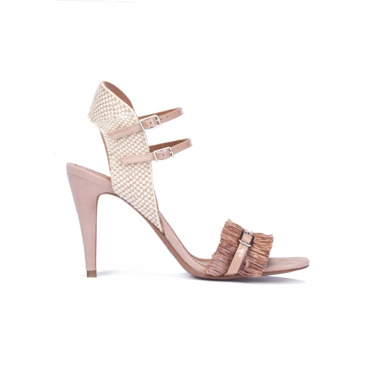 Nude fringed high heel sandals Pura L�pez