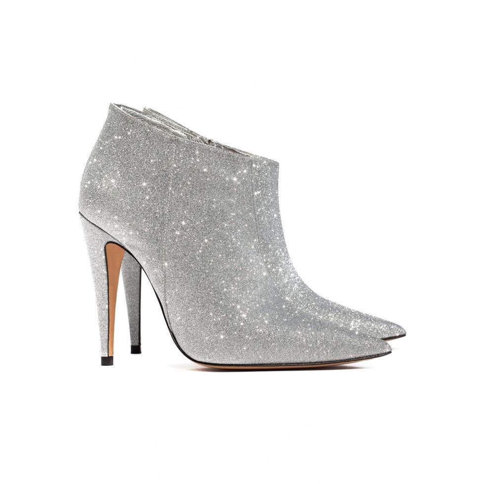 Botines de tacón alto en glitter - tienda de zapatos Pura López