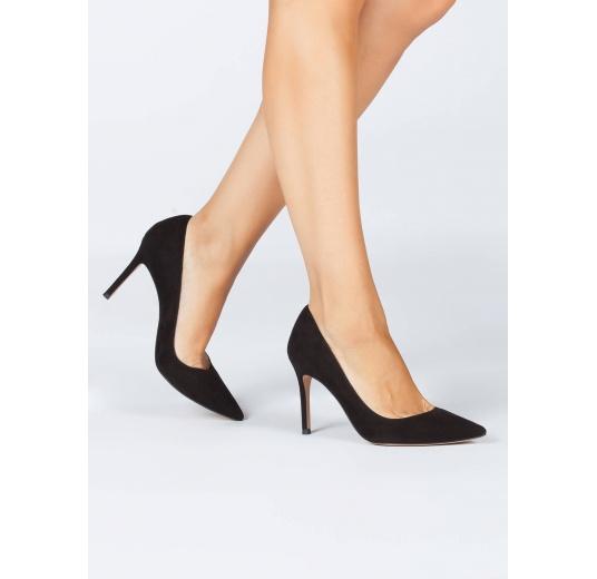 Black suede classic heels Pura L�pez