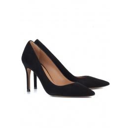 Black suede classic heels Pura López