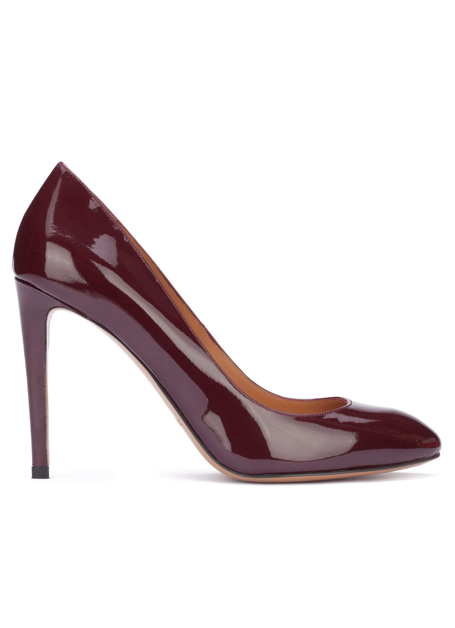 Burgundy high heel shoes - online shoe store Pura Lopez . PURA LOPEZ