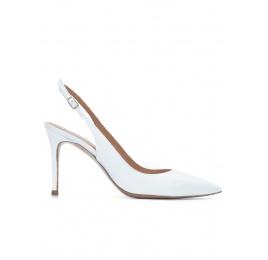 Zapatos de tacón blancos detalonados Pura López