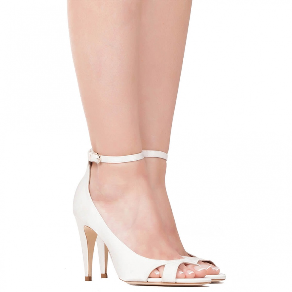 High heel bridal sandals  - online shoe store Pura Lopez