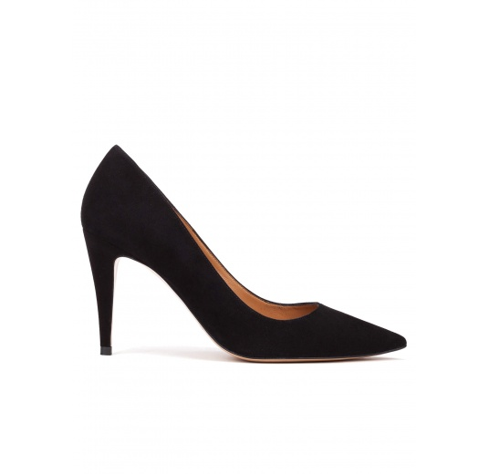 High heel pumps in black suede Pura L�pez