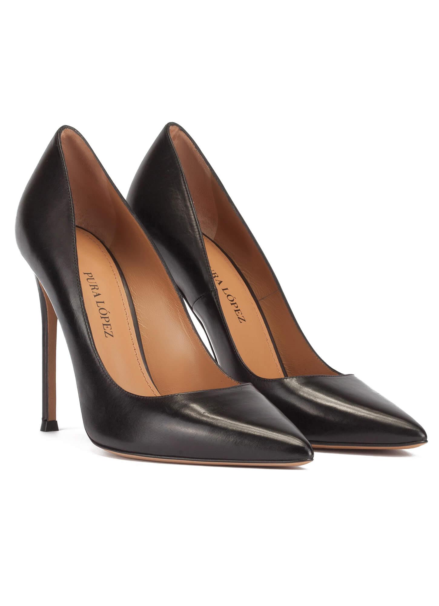 Salon Tacon Salon Alto Zapato Negro Negro Zapato f7vYb6yIg