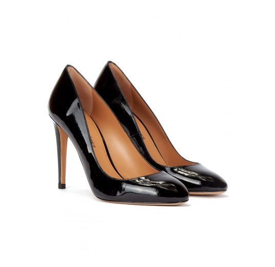 High stiletto heel pumps in black patent leather Pura L�pez
