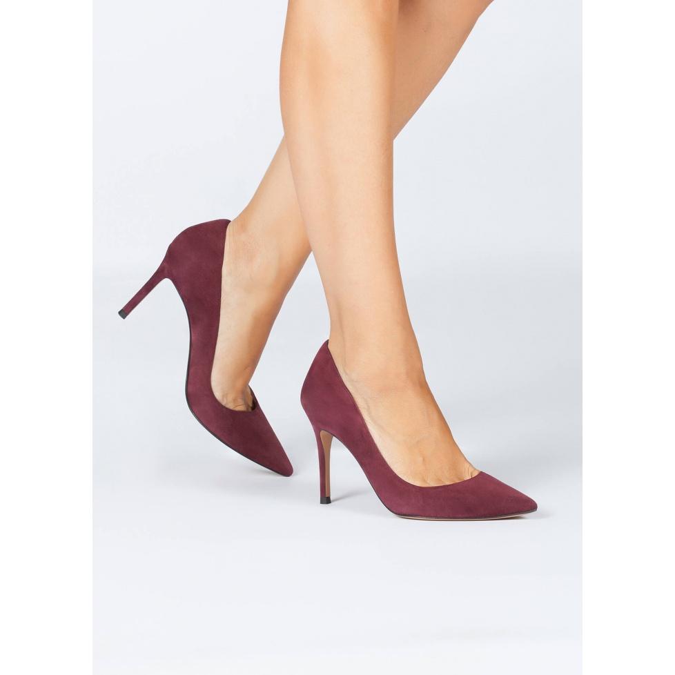 Aubergine high heel pumps - online shoe store Pura Lopez