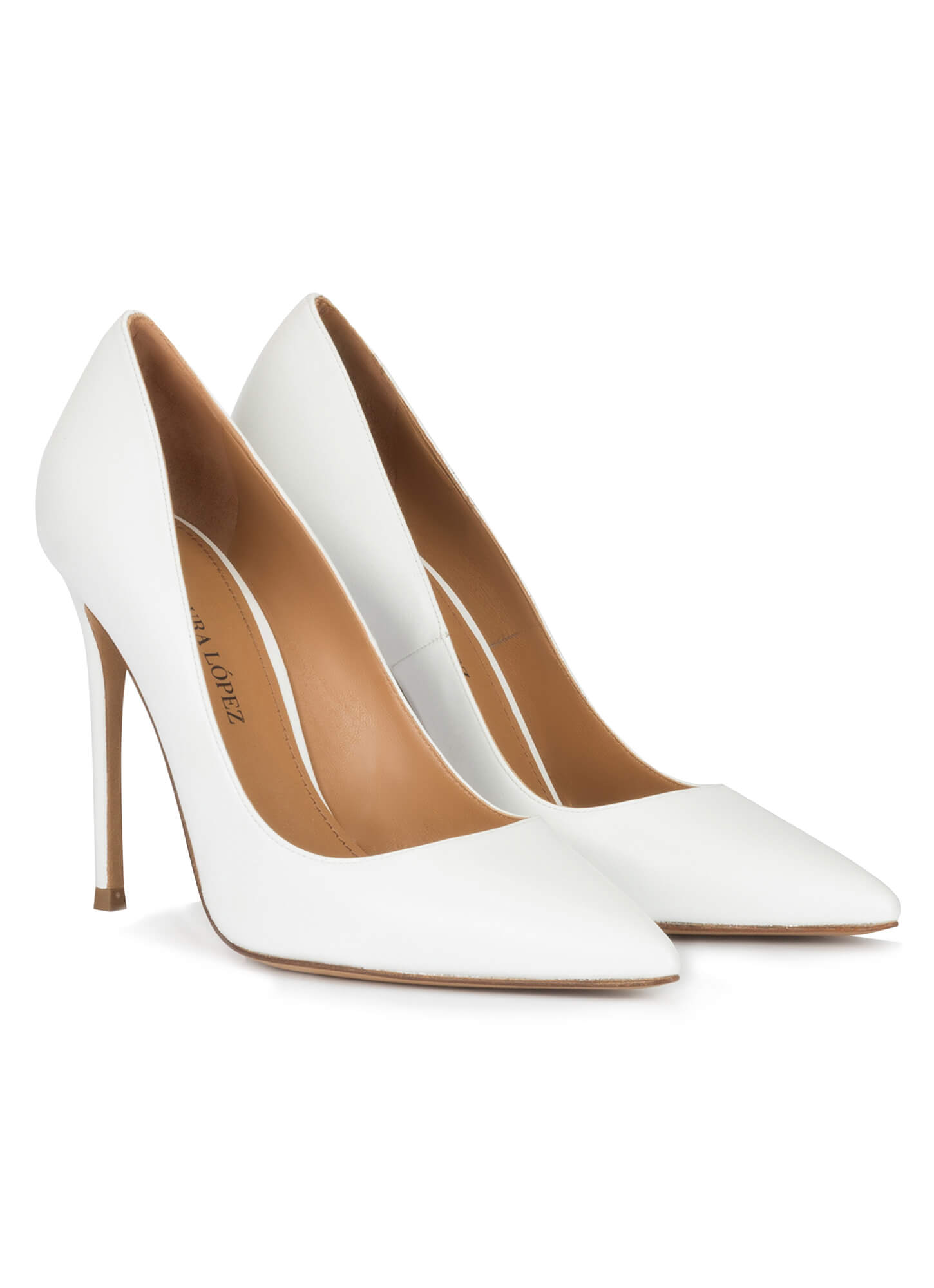 White High Heel Pumps White Leather Leather mNwvOPy8n0