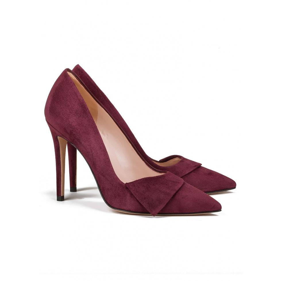 Zapato de salón burdeos de tacón alto -tienda de zapatos Pura López