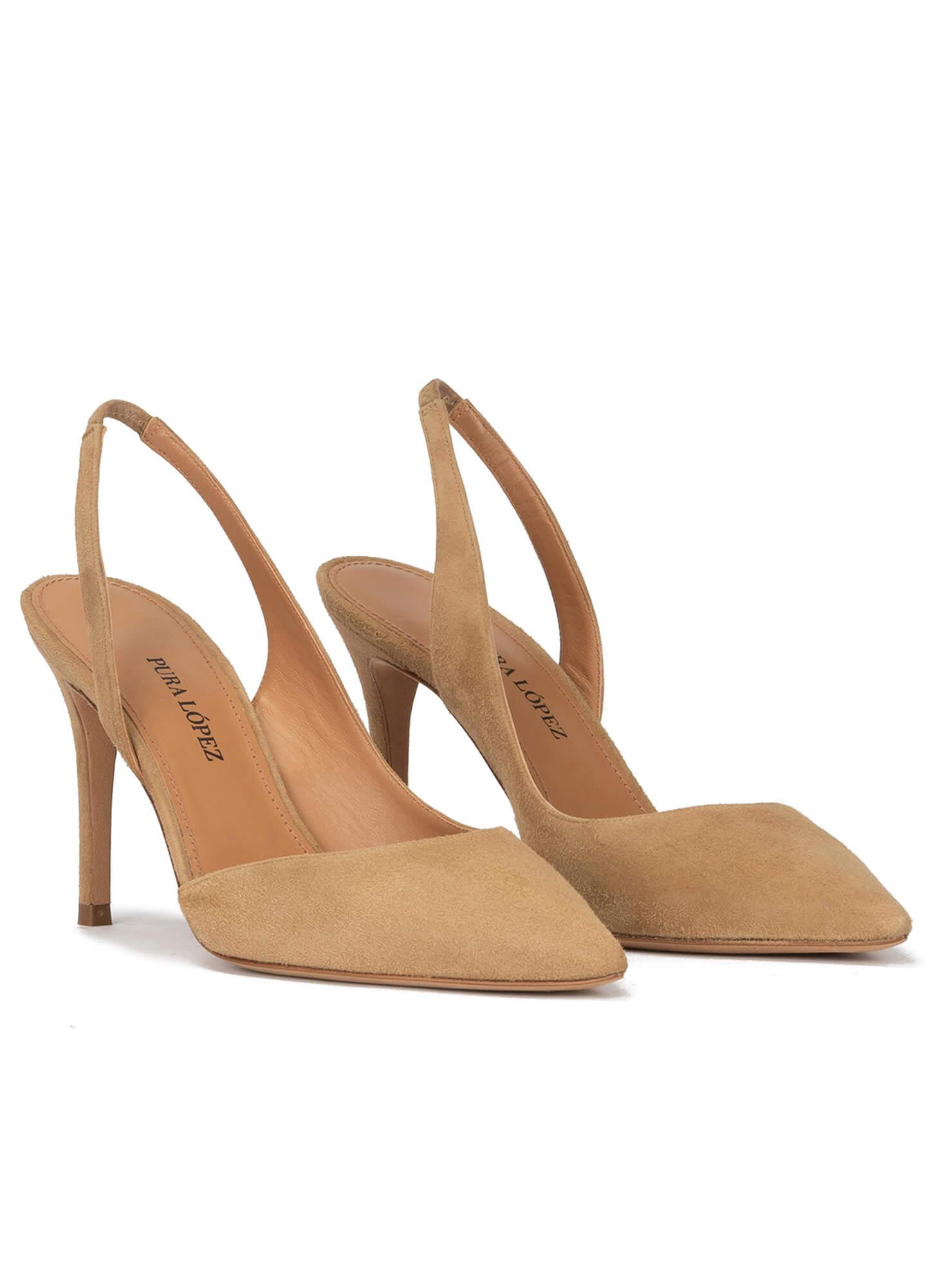 Slingback pointy toe stiletto heel