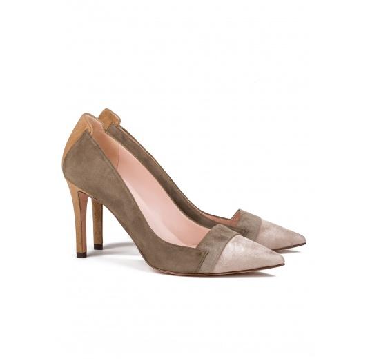 High heel pumps in multicolored suede Pura L�pez