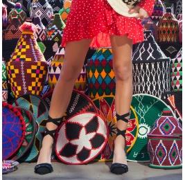 Black slingback high heel shoes Pura López