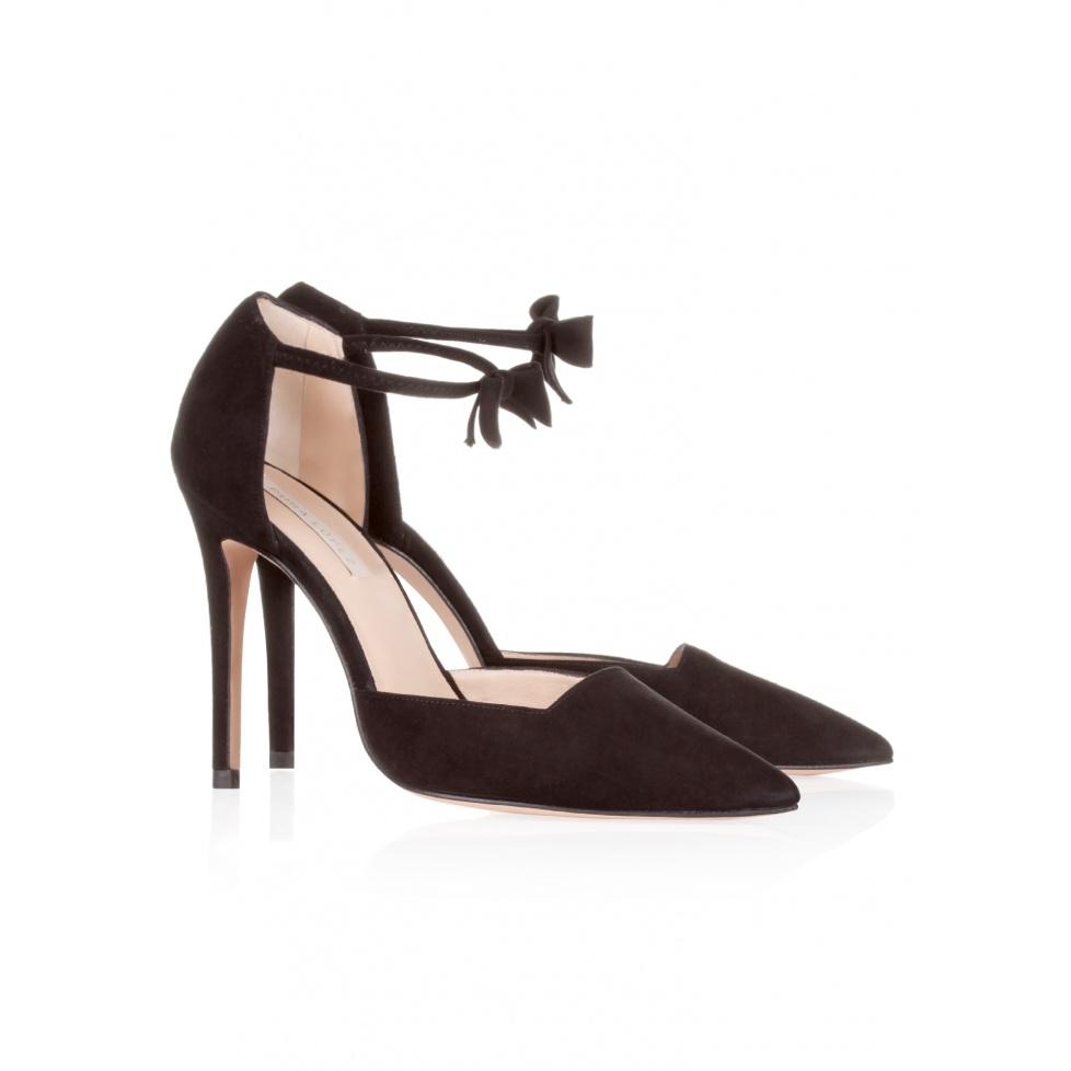 Pura Lopez high heel shoes in black suede