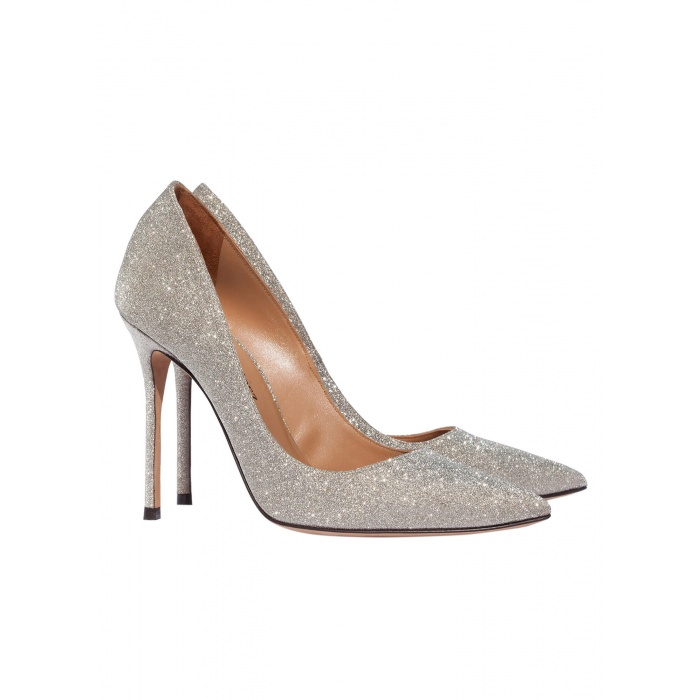 High heel pumps in golden glitter - online shoe store Pura Lopez