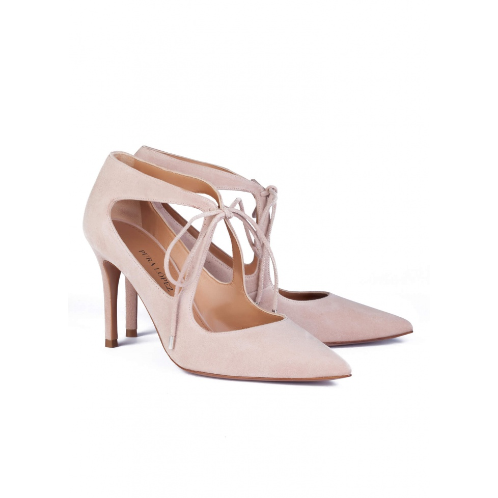 Nude high heel shoes - online shoe store Pura Lopez