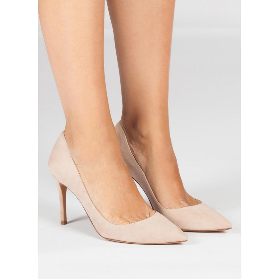 Nude high heel pumps - online shoe store Pura Lopez