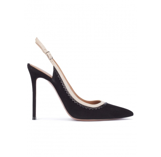 Black heeled slingback pumps Pura L�pez